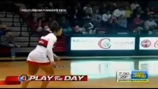 *NEW* Incredible Acrobatic Shot by Basket-Ball Cheerleader 23/02/2013