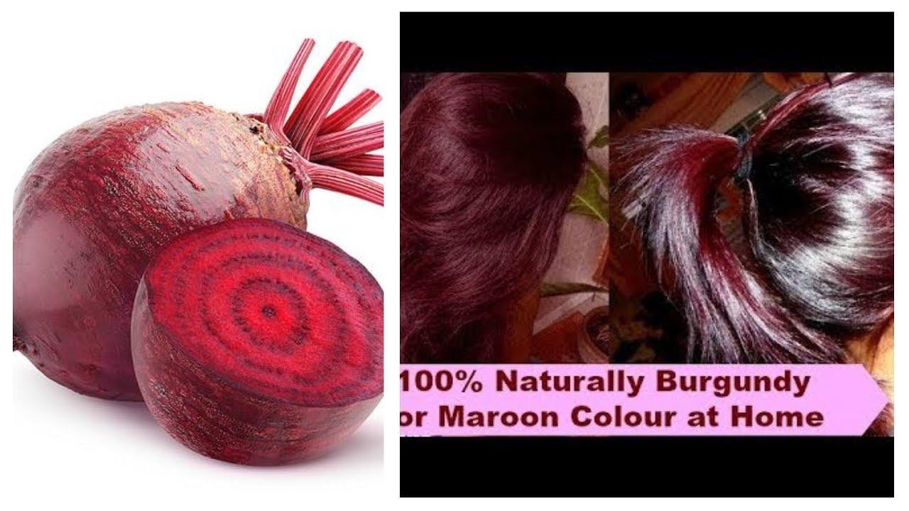 بحبة شمندر بيطراف احصلي على لون شعر احمر جميل جدا احسن من الصبغة الكيميائية Youtube