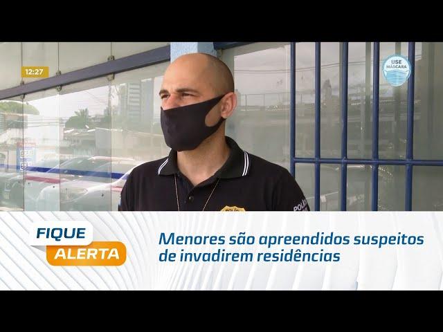 Menores são apreendidos suspeitos de invadirem residências no município do Pilar