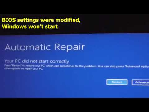 Windows 10, Preparing automatic repair (SATA Operation AHCI, RAID On)