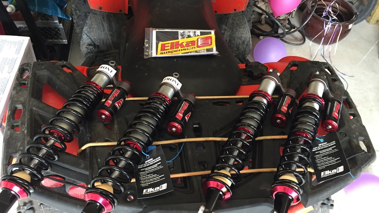 Testing the stage 3 elka shocks on Can am renegade 850