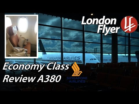 [HD] Singapore Airlines Review | A380 Economy Class | londonflyer