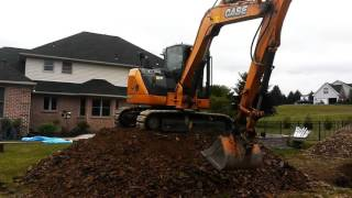 Construction Digging Earth Mover Dirt Pile Excavator Digger Case Machine