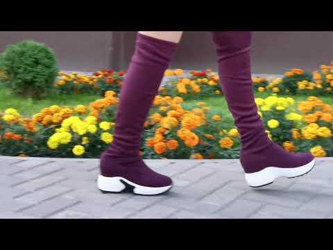 Модные Женские сапоги на толстой платформе Бренд : #QUTAA от Магазина : #QUTAA Official Store