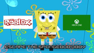 ROBLOX S2 PART 107 escape the spongebob obby (XBOX ONE)