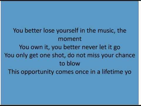Eminem - Lose Yourself Lyrics | Musixmatch