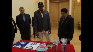 Rodman Gives NKorea Minister Trump Book