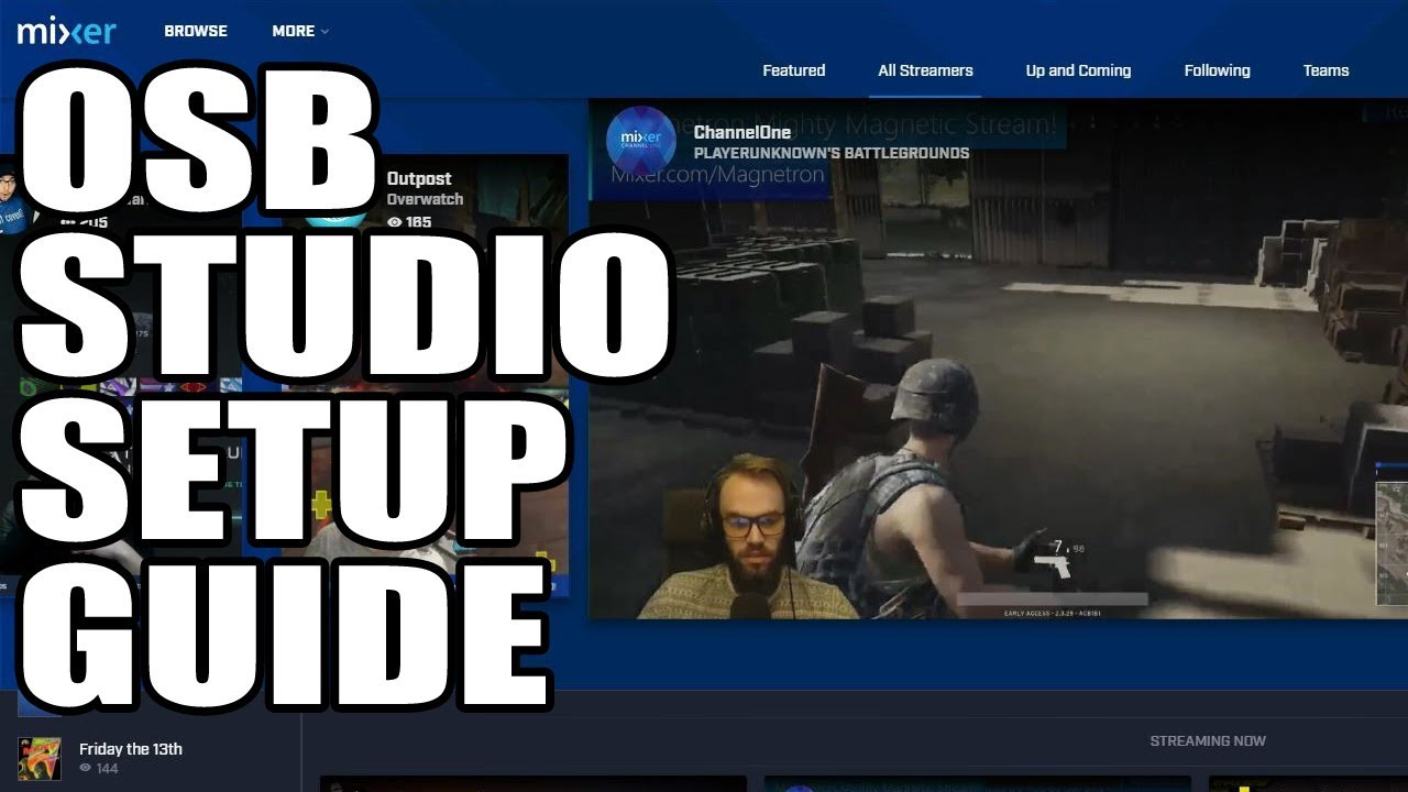 how to stream mixer live on youtube