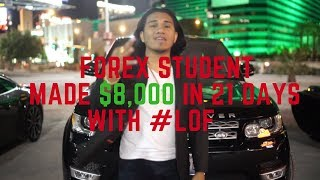Berto Delvanicci- MY STUDENT MADE $8,000 WITH LIONS OF FOREX!!!