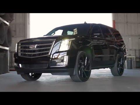 Lexani CYCLONE Black Wheels on Cadillac Escalade - YouTube
