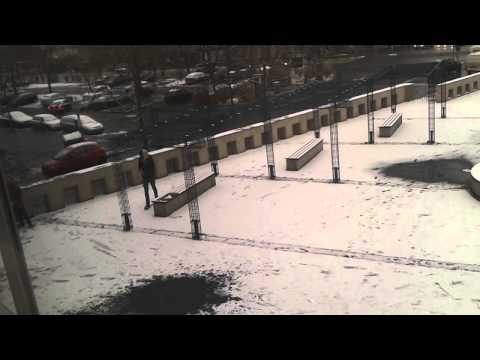 First day with snow - Kassel Germany