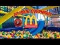 24 HOUR OVERNIGHT in MCDONALDS FORT ⏰ | OVERNIGHT CHALLENGE MCDONALDS