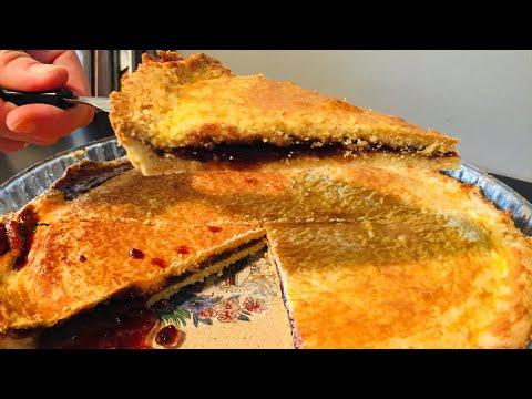 gâteau-basque-à-la-confiture-de-cerises-حلوة-فرنسية-محشية-بمربى-الكرز