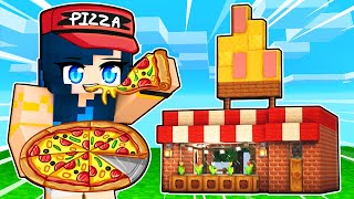 Building a PIZZA PARLOR in Minecraft!