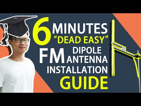 How To Install High Gain Outdoor FU-DV2 FM Dipole Antenna For 300w/350w/600w/1kw FM Transmitter?