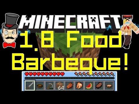 Minecraft 18 Foods Hunger Bar Chicken Steak Bbq Melons Youtube