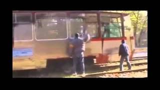 Graffiti Whole Car on Tram - Most Wanted - graffiti