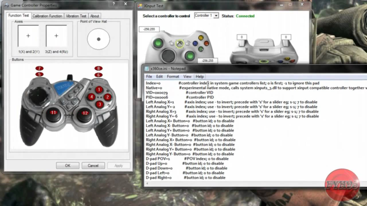 setting manette blur pc