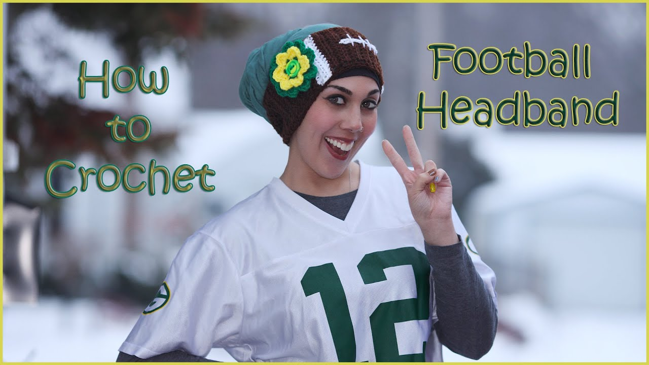 Football Headband with Flower Applique - YouTube dd8f0e4b381