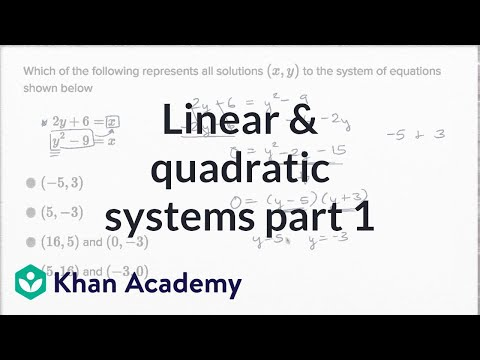 Linear And Quadratic Systems — Basic Example | Math | New SAT | Khan Academy