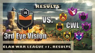 3rd Eye Vision, Clan War League #1 Results | Clash of Clans