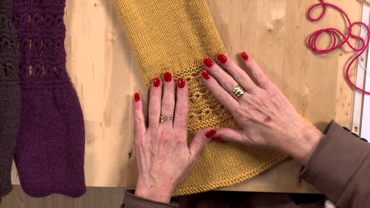 Use a Broomstick Lace Pattern to Knit a Scarf & Cowl - YouTube