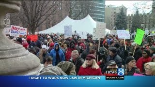Right-to-work law takes effect in Mich.