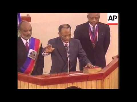 HAITI: JEAN BERTRAND ARISTIDE SWORN IN