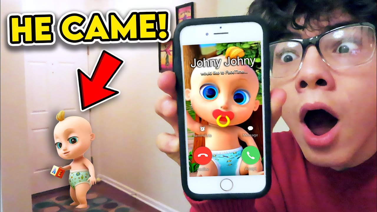 DO NOT FACETIME JOHNY JOHNY YES PAPA!! (FROM LOOLOOKIDS) *HE CAME TO MY HOUSE*