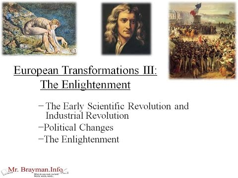 Europe Lesson III: The Enlightenment