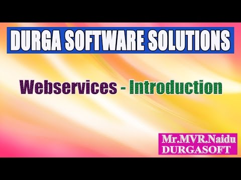 Webservices Introduction