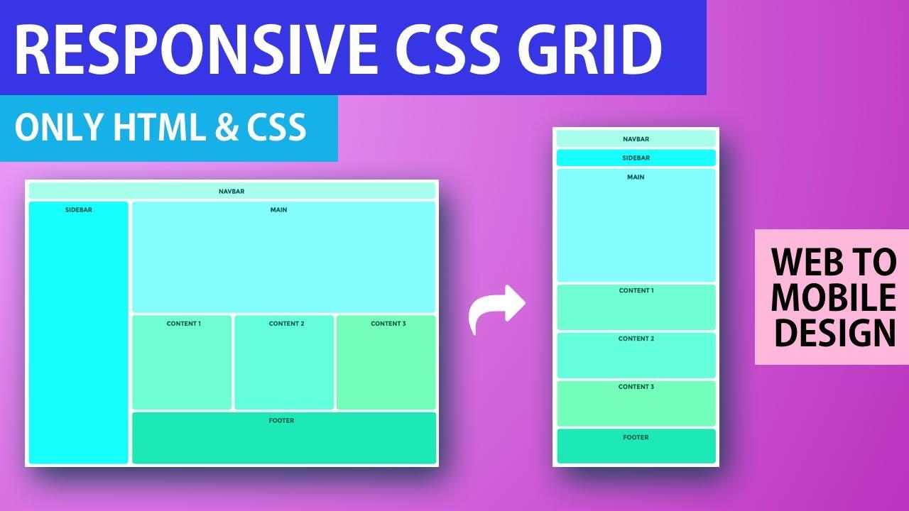 Responsive CSS Grid Tutorial