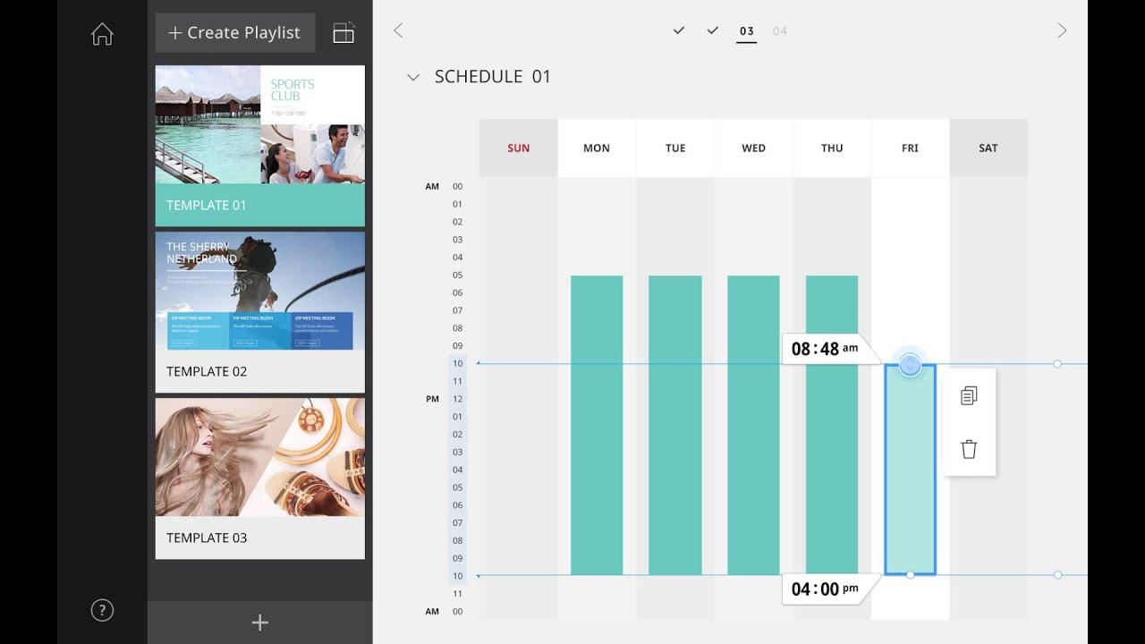 Samsung SMART Signage TV - Tablet App Tutorial #3