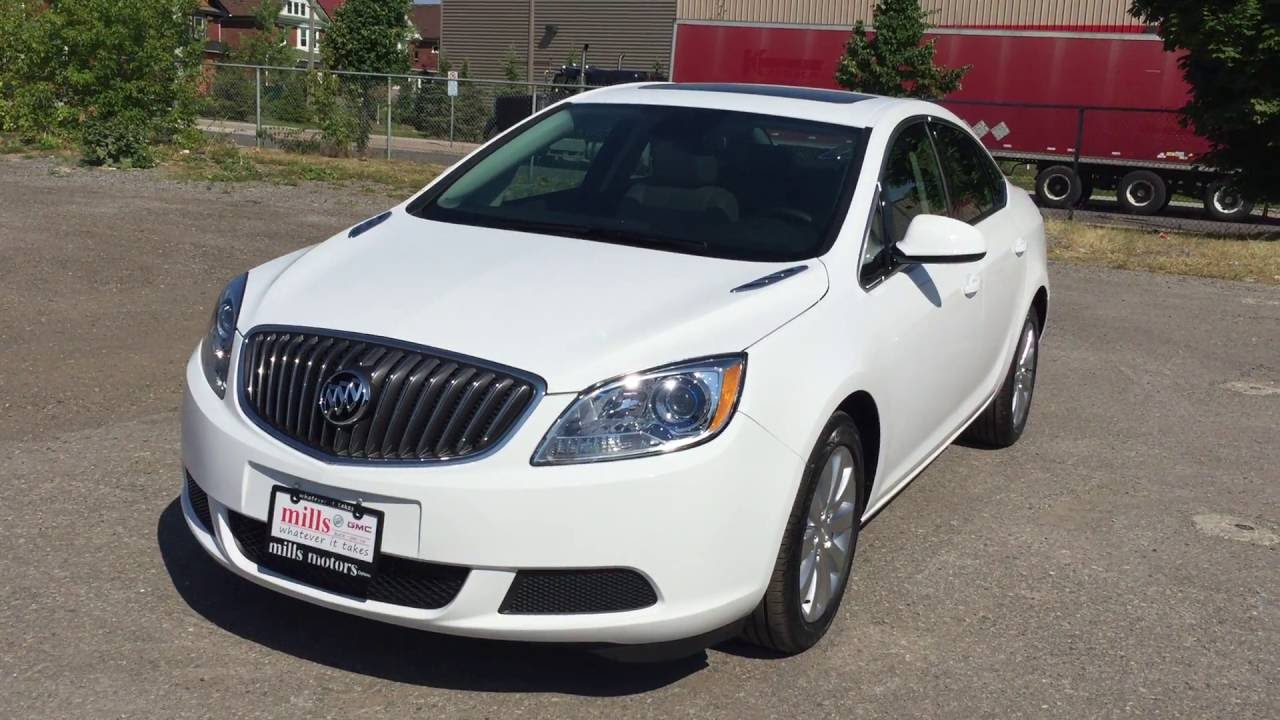 2016 Buick Verano Sedan Fwd Sunroof White Oshawa On Stock 161495