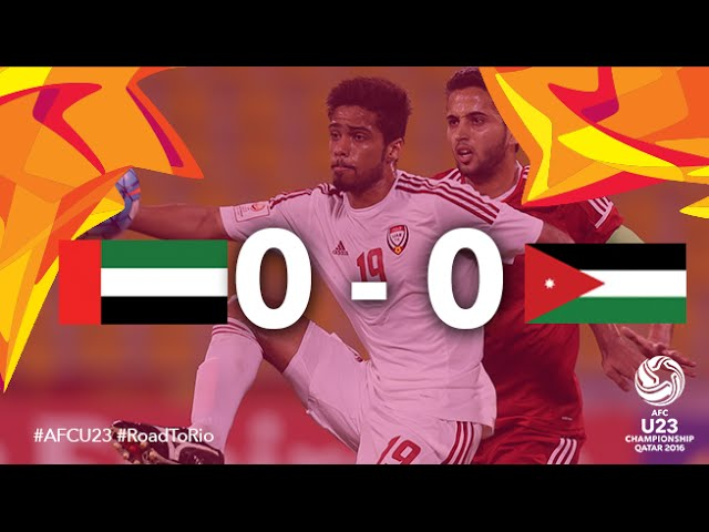 Video: U23 UAE vs U23 Jordan