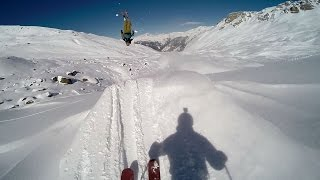 Crash Ski Freeride et Double Backflip Mickael Bimboes