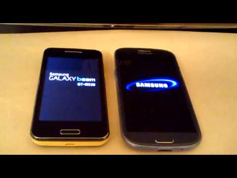 Galaxy Beam I8530 vs Galaxy S3 Startup - Boot time