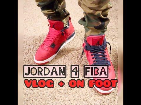 Jordan 4 FIBA On Foot + Vlog
