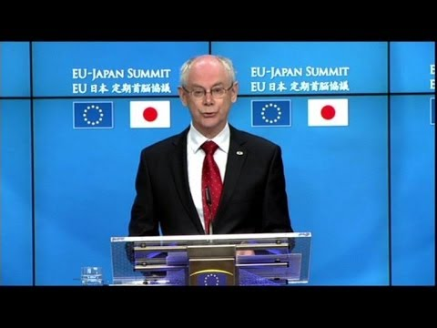 Rompuy: EU grateful for Japanese support on Ukraine
