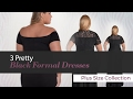 3 Pretty Black Formal Dresses Plus Size Collection