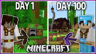 I Played Minecraft f๐r 100 Days.. (1.16 Survival)