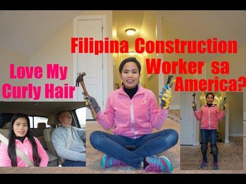 American Filipina Life In America    Call Center Agent Sa Pinas Construction Worker Sa America I Lov