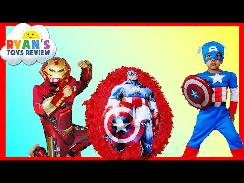 GIANT EGG SURPRISE OPENING Captain America Civil War Iron Man The Avengers Surprise Toys Kids Video