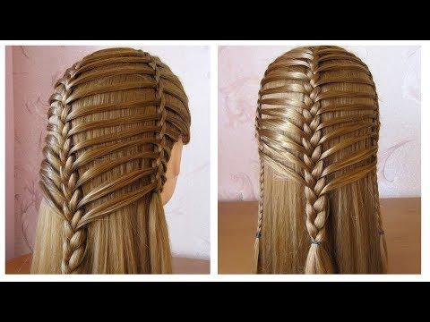 Coiffure pour tous les jours cheveux long/mi long ✬ Coiffure avec tresse ✬ facile à faire