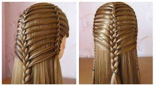 Coiffure pour tous les jours cheveux longmi long  Coiffure avec tresse  facile  faire