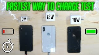 FASTEST WAY to CHARGE an iPhone! (iPad/iPhone Charger vs USB C Test)