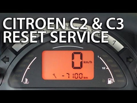 How to reset service interval in Citroen C2 & C3 (spanner inspection reminder maintenance)