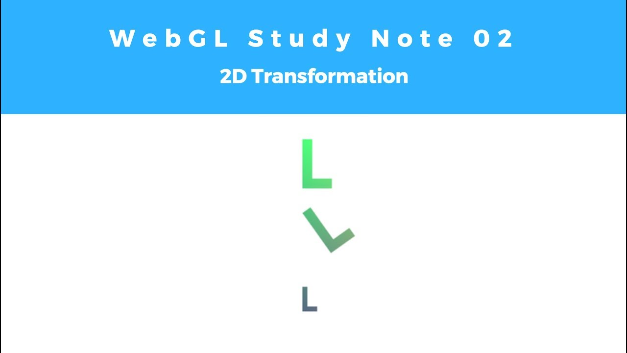WebGL Study Note 02: 2D Transformation