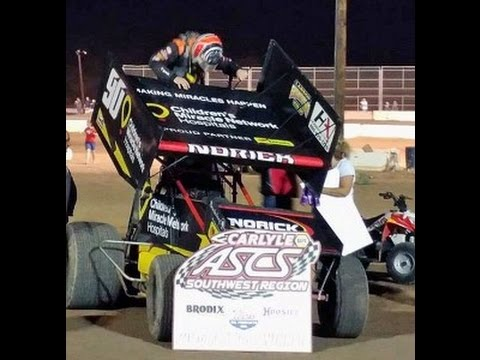 ASCS Southwest Sprint Cars Main Canyon Speedway 6-18-2016
