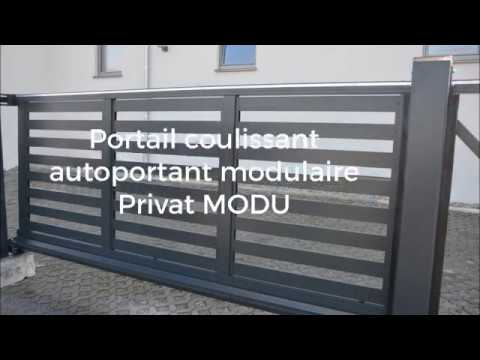 Portail Coulissant Autoportant Privat Modu Youtube